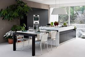 Extendable Dining Table That Can Be Tucked Away Into The Kitchen Island Dynamic Modern Balances Modularity With Chic Formal Elegance