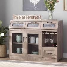 Image Is Loading Farmhouse Buffet Mini Bar Table Sideboard Server Cabinet