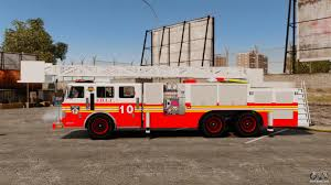 100 Gta 4 Fire Truck Mod Ladder V13 ELS Para GTA