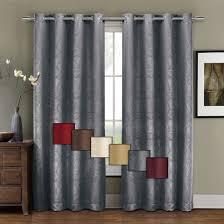 Burgundy Grommet Blackout Curtains by Prairie Leafy Design Blackout Grommet Curtain Panels Single