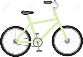 Green Bike On A Transparent Background Stock Vector
