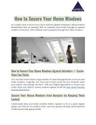 A House Your Home Is Easier Than You How To Secure Your Home Windows