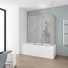 schulte badewannenaufsatz 4 teilig mit seitenwand kunstglas