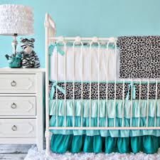 Aqua And Coral Crib Bedding by Crib Bedding For Girls Rosenberry Rooms
