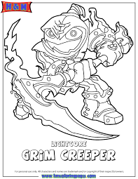Skylanders Swap Force Undead Lightcore Grim Creeper Coloring Page