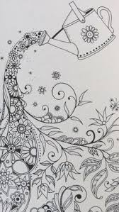 Secret Garden By Johanna Basford I Would Love To FM This Design Onto White Cotton W Color Thread