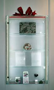 wall fixed glass display cabinets standard custom made shopkit uk