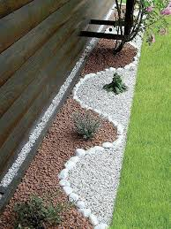 White Marble Chips For Landscaping Backyard Designe The Idea How To Make A Nice Yard
