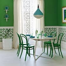 White And Rich Blue Colors For Modern Dining Room Decor