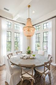Dining Tables Excellent Gray Round Rustic Wooden Reclaimed Wood Table Stained Design