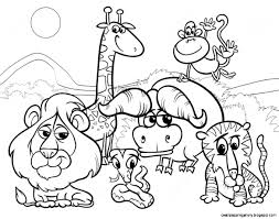 Coloring Pages Of Zoo Animals For Preschool Astonishing Free