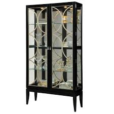black corner curio cabinet with light oxford chalk painted decor