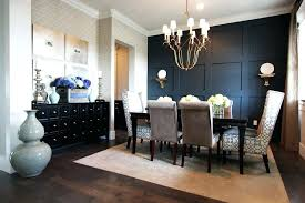 Dining Room Dresser Large Wall Contemporary With Black Panel Dark Wood Floor Beige