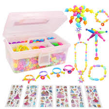 Amazoncom POKONBOY Pop Beads Set Snap Pop Beads DIY Jewelry Kit