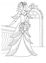 Princess Dress Coloring Pages
