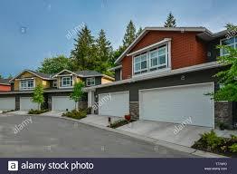 100 Triplex Houses Street Of Brand New Residential Triplex Houses Ready For