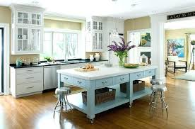 Kitchen Islands On Casters Gray Wooden Island Wheels