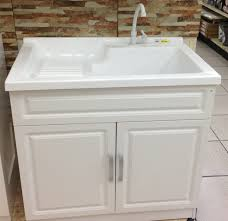 tuscany laundry tub cabinet kit complete with faucet and pullout