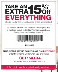 New Kohl's Mobile Coupon Program + 15% Off Printable Coupon ... Kohls Coupon Codes This Month October 2019 Code New Digital Coupons Printable Online Black Friday Catalog Bath And Body Works Coupon Codes 20 Off Entire Purchase For Promo By Couponat Android Apk Kohl S In Store Laptop 133 15 Best Black Friday Deals Sales 2018 Kohlslistens Survey Wwwkohlslistenscom 10 Discount Off Memorial Day Weekend Couponing 101 Promo Maximum 50 Oct19 Current To Save Money
