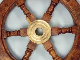 Sailboat Wheel Wall Decor by Amazon Com Hampton Nautical Deluxe Class Wood And Brass