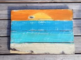 Sunset Painting Beach Pallet Sign By RescuedandRepurposed 4500