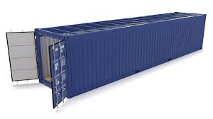 100 Shipping Container 40ft Open Top No Cover 3D Model