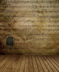 2018 5x7ft Music Notes Wall Photography Backdrops Retro Vintage Wood Floor Indoor Children Backgrounds Kids Studio Decor Photo Wallpaper Props From