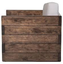 Watsons Patio Furniture Covers by Watson Modern Rustic Lodge Chunky Wood Oak Square Arm Chair