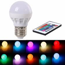 16 color changing led light bulb with remote dimmable rgbw