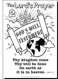 The Lords Prayer Coloring Page 2
