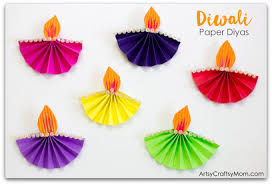 Accordion Fold Diwali Paper Diya Craft