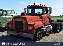 Old American MACK Truck Stock Photo: 189147051 - Alamy