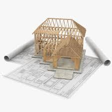 Blueprints House Hausbau Auf Lichtpausen 3d Modell Turbosquid 1221402