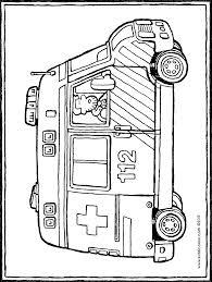 Livre De Coloriage Voiture Ambulance Pour Les Enfants Petit