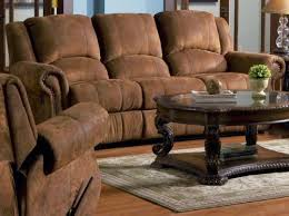 Coaster Hardwood Ergonomic Reclining Sofa In Distressed Microfiber