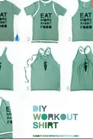 Take an old T shirt and turn it into a cute tank top