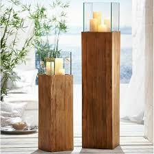 bodenwindlicht woody kerzenhalter recyceltes holz