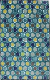 Crib 2 College Kids Dots Turquoise 495 by American Rug Craftsmen
