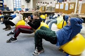 Ball Seats For Classrooms by Lake Fenton Students Exercise Attention Span Body With Exercise