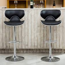 Details About Roundhill Furniture Masaccio Airlift Adjustable Height Swivel  Bar Stools - Set