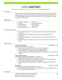 Office Manager Resume General Sample Example