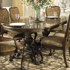 Formal Dining Table with Two Hand Carved Pedestals by Fine