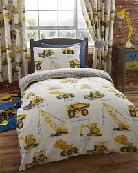 100 Truck Toddler Bedding S Cranes Diggers Boys Cot Junior Quilt Duvet Cover P