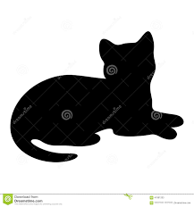 cat silhouette cat silhouette stock illustration image 47681203