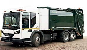 100 Waste Management Garbage Truck HANDS ON 26t ZeroEmission Electric Refuse Collection Vehicle