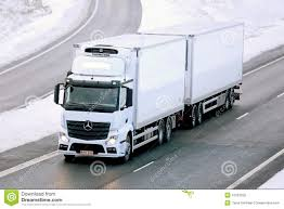 Mercedes-Benz Actros Temperature Controlled Trailer Truck Editorial ...