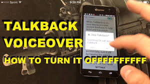 How To Remove Talkback Voice Over Option on your cellphone