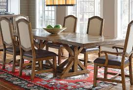 American Attitude Cross Hatch Saw Horse Dining Table