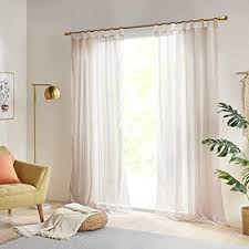 gardinen schals vorhänge transparent vorhang für kleine fenster schlafzimmer benny braun kurz 2er set je 175x140cm