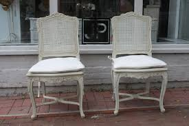 Chair Cane Back Dining Room Chairs Fresh French Provincial With Vintage White Together Special Table Inspirations Wicker And High Rattan Oval Parsons